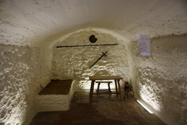 "The cave where according to local legend Cervantes was incarcerated and wrote part of ""The Ingenious Gentleman Don Quixote"" in the town of Argamasilla de Alba, Spain, April 7, 2016. (Photo by Susana Vera/Reuters)"