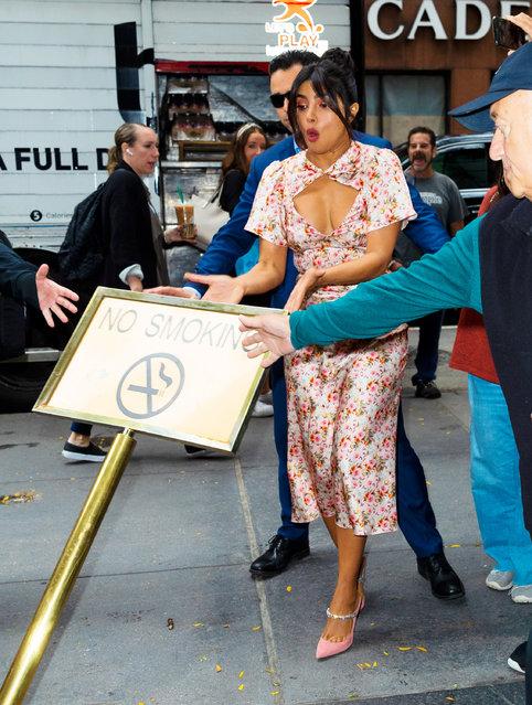 Priyanka Chopra at NBC studio on October 08, 2019 in New York City. (Photo by Jackson Lee/GC Images)