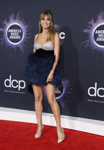 Heidi Klum arrives at the 2019 American Music Awards at Microsoft Theater on November 24, 2019 in Los Angeles, California. (Photo by Danny Moloshok/Reuters)