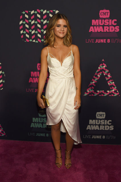Musician Maren Morris attends the 2016 CMT Music awards at the Bridgestone Arena on June 8, 2016 in Nashville, Tennessee. (Photo by Rick Diamond/Getty Images  for CMT)