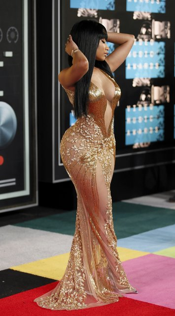 Recording artist Nicki Minaj arrives at the 2015 MTV Video Music Awards in Los Angeles, California, August 30, 2015. (Photo by Danny Moloshok/Reuters)