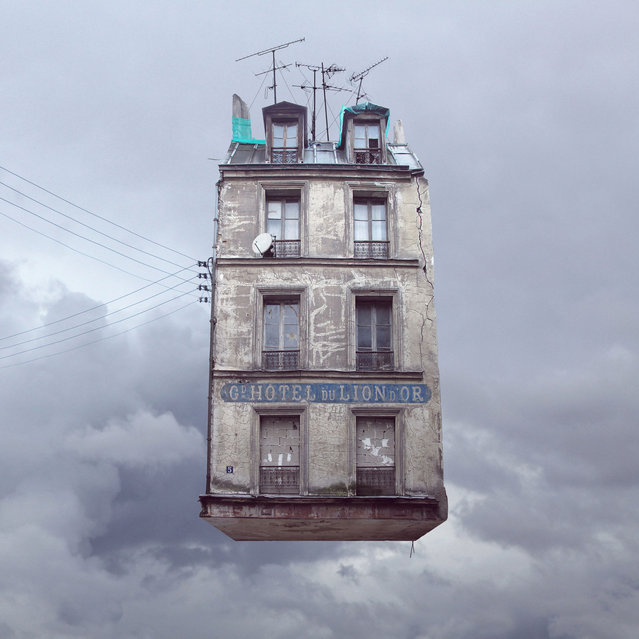 """Laurent Chehere's """"Flying Houses"""": """"Golden Lion Hotel"""". (Photo by Laurent Chehere)"""