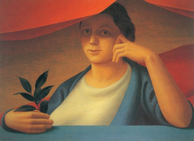 Woman With A Spring Of Laurel. Artwork by George Tooker