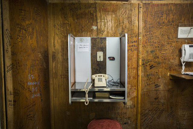 The house phone at Coldfoot Camp, one of the few places to overnight along the Dalton Highway in Coldfoot, Alaska, USA, 03 September 2017. (Photo by Jim Lo Scalzo/EPA)