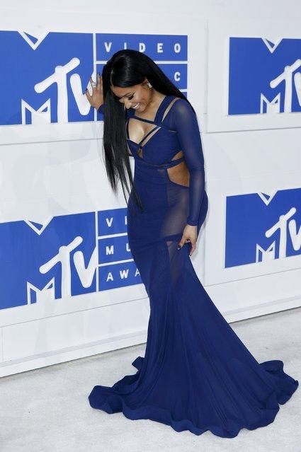 Rapper Nicki Minaj arrives at the 2016 MTV Video Music Awards in New York, U.S., August 28, 2016. (Photo by Eduardo Munoz/Reuters)