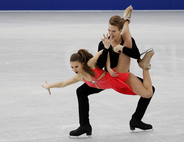 Sofia Shevchenko and Igor Eremenko of Russia compete in the Junior ice dance short dance during the ISU Junior & Senior Grand Prix of Figure Skating Final at Nippon Gaishi Hall on December 8, 2017 in Nagoya, Japan. (Photo by Issei Kato/Reuters)
