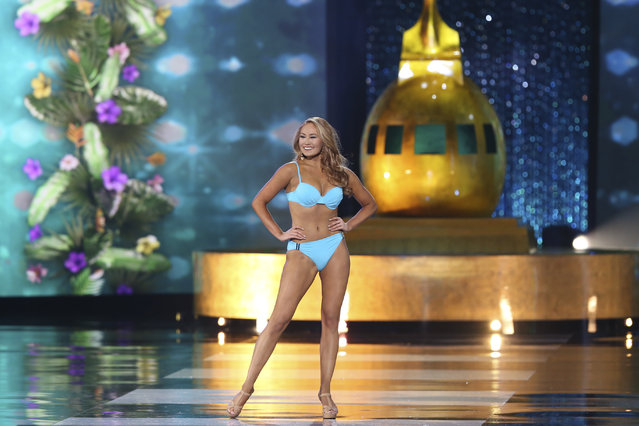 Miss Idaho Kylee Solberg performs in a swimsuit during the Miss America 2017 pageant, Sunday, September 11, 2016, in Atlantic City, N.J. (Photo by Mel Evans/AP Photo)
