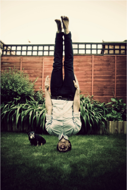 Upside-Down Self-Portraits By Caulton Morris