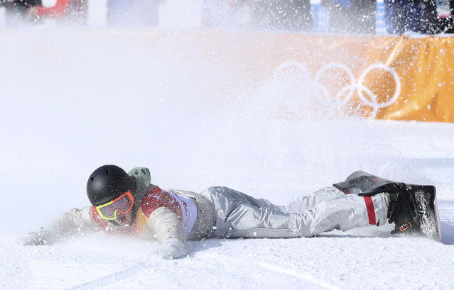 US Redmond Gerard competes in a run during the final of the men' s snowboard slopestyle at the Phoenix Park during the Pyeongchang 2018 Winter Olympic Games on February 11, 2018 in Pyeongchang. (Photo by Mike Blake/Reuters)