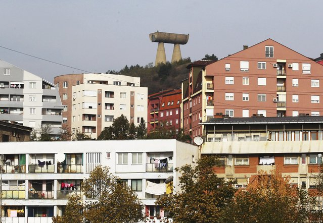 General view of The Miners Monument in northern Mitrovica, Kosovo  November 6, 2014. (Photo by Hazir Reka/Reuters)
