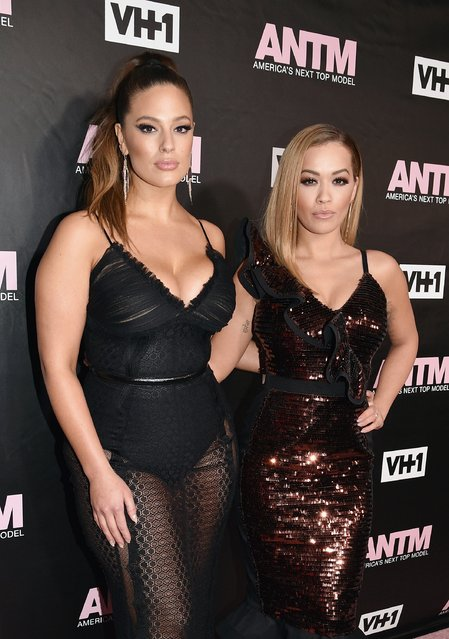 Model and ANTM Judge, Ashley Graham (L) and singer and ANTM Judge, Rita Ora attend the VH1 America's Next Top Model premiere party at Vandal on December 8, 2016 in New York City. (Photo by Bryan Bedder/Getty Images for VH1)