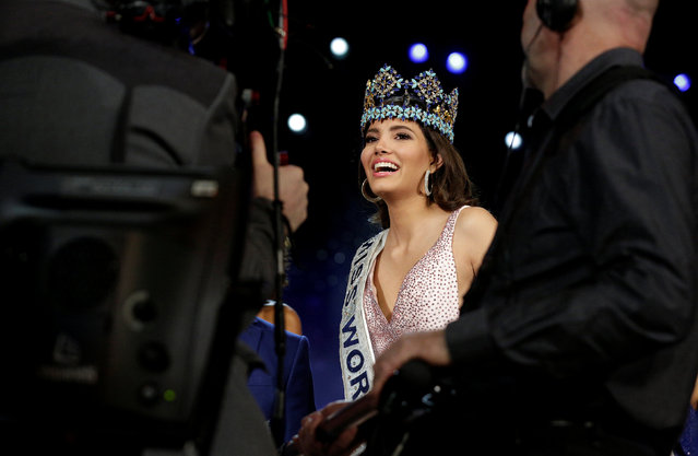 Miss Puerto Rico Stephanie Del Valle speaks to the media after winning the Miss World 2016 Competition in Oxen Hill, Maryland, U.S., December 18, 2016. (Photo by Joshua Roberts/Reuters)