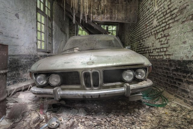 A BMW has been abandoned in a garage. (Photo by Kenneth Provost/Mediadrumworld.com)