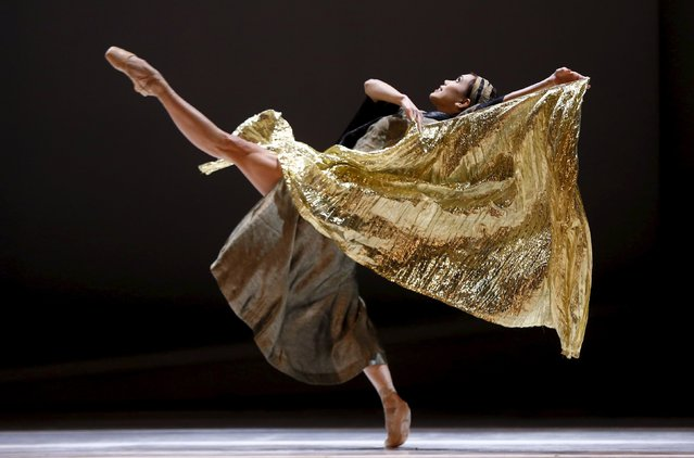 Noelani Pantastico of The Monte Carlo Ballet performs Prokofiev's Romeo and Juliet for its London premiere, choreographed by Jean-Christophe Maillot at the London Coliseum April 22, 2015. (Photo by Eddie Keogh/Reuters)