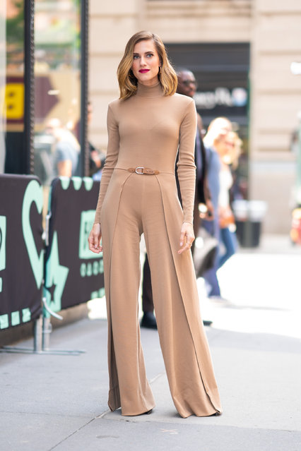 Allison Williams is seen outside the Build Studio on May 23, 2019 in New York City. (Photo by Gotham/GC Images)