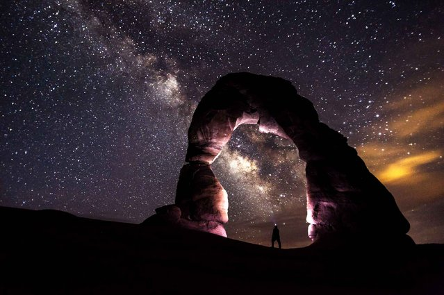Photo of the Milky Way taken by a U.S. photographer Jacob Frank. (Photo by Jacob Frank/Caters News/SIPA Press)