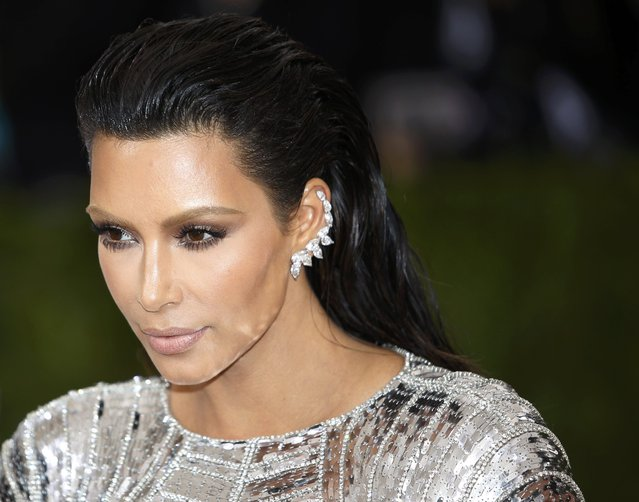 """Kim Kardashian arrives at the Metropolitan Museum of Art Costume Institute Gala (Met Gala) to celebrate the opening of """"Manus x Machina: Fashion in an Age of Technology"""" in the Manhattan borough of New York, May 2, 2016. (Photo by Eduardo Munoz/Reuters)"""