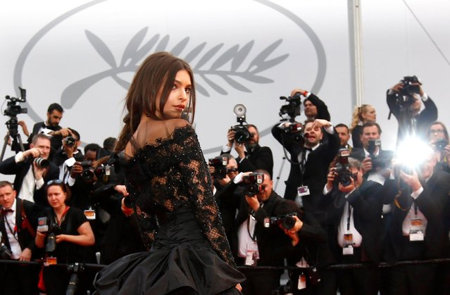 "US model Emily Ratajkowski arrives for the screening of ""Nelyubov"" (Loveless) during the 70th annual Cannes Film Festival, in Cannes, France, 18 May 2017. The movie is presented in the Official Competition of the festival which runs from 17 to 28 May. (Photo by Ian Langsdon/EPA)"