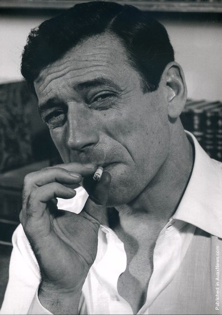 Italian-born French actor and singer Yves Montand. France, Paris, 1960. (Photo by Philippe Halsman)