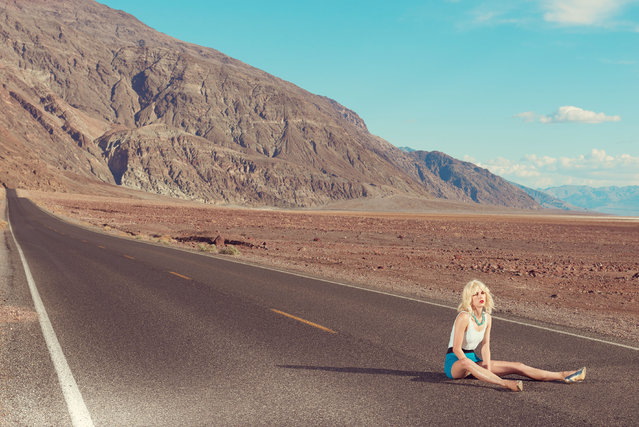 The settings at first seem inspirational but, under the punishing rays of the sun, come to feel harsh and devoid of hope. (Photo by Kourtney Roy/Galerie Catherine et André Hug/The Guardian)