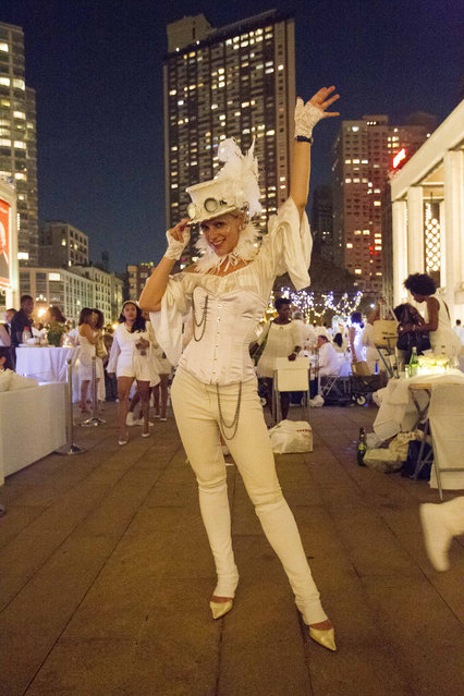 Nina Urban at the annual Dinner en Blanc, this year hosted in Lincoln Center in New York, USA on August 22, 2017. (Photo by Erik Thomas/The New York Post)