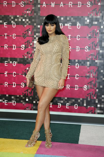 TV personality Kylie Jenner arrives at the 2015 MTV Video Music Awards in Los Angeles, California, August 30, 2015. (Photo by Danny Moloshok/Reuters)