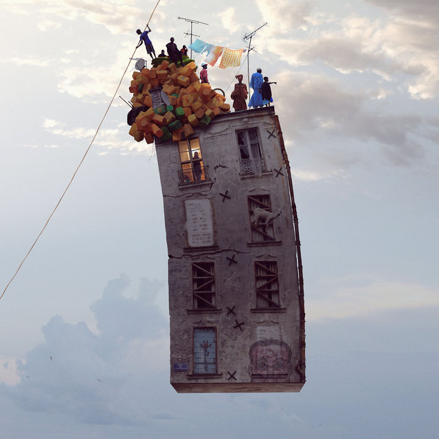 """Laurent Chehere's """"Flying Houses"""": """"The Great Illusion"""". (Photo by Laurent Chehere)"""