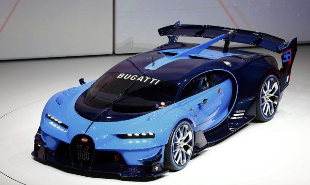 Bugatti Vision concept car is presented during the Volkswagen group night ahead of the Frankfurt Motor Show (IAA) in Frankfurt, Germany, September 14, 2015. (Photo by Kai Pfaffenbach/Reuters)
