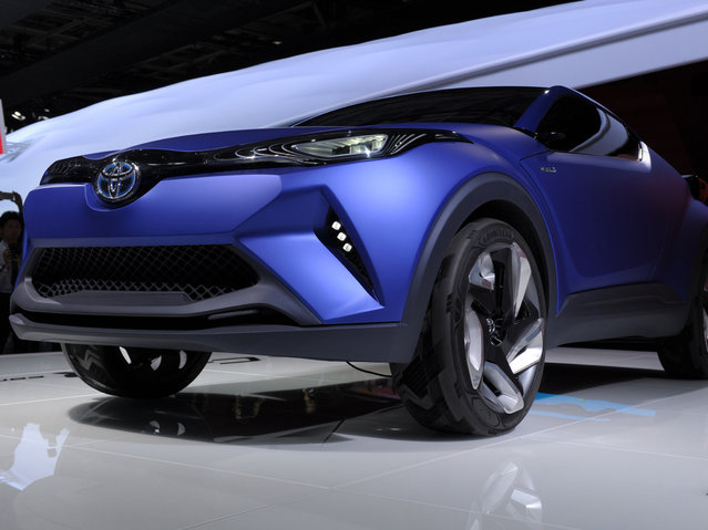 A Toyota C-HR Concept car is displayed at the 2014 Paris Auto Show on October 2, 2014 in Paris, on the first of the two press days. (Photo by Eric Piermont/AFP Photo)