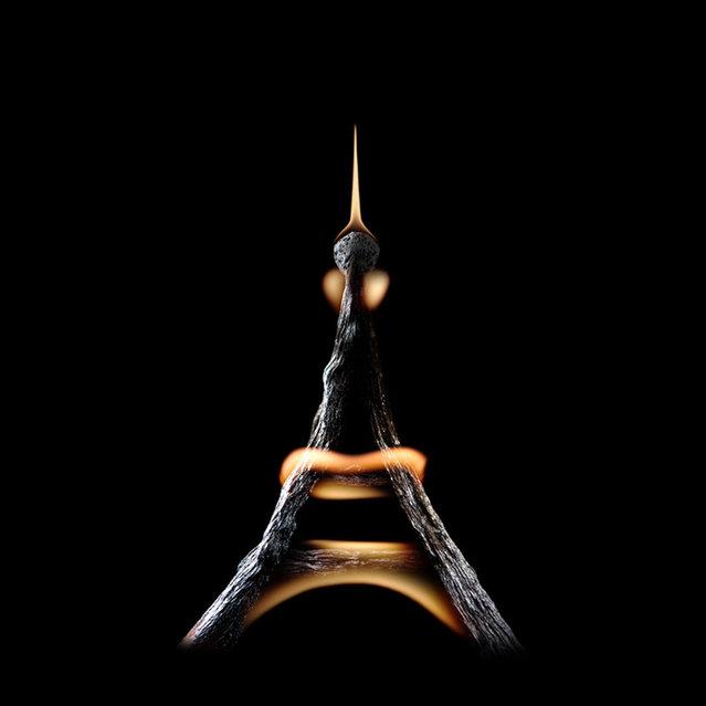Burning matches by Stanislav Aristov