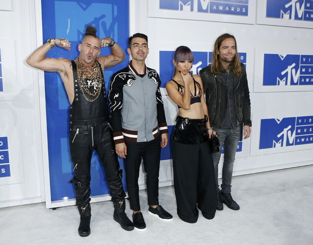 Pop band DNCE arrives at the 2016 MTV Video Music Awards in New York, U.S., August 28, 2016. (Photo by Eduardo Munoz/Reuters)