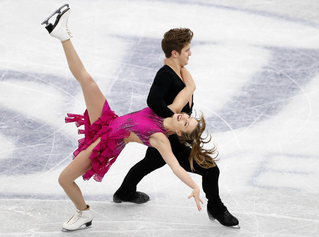 Christina Carreira and Anthony Ponomarenko of the USA compete in the Junior ice dance short dance during the ISU Junior & Senior Grand Prix of Figure Skating Final at Nippon Gaishi Hall on December 8, 2017 in Nagoya, Japan. (Photo by Issei Kato/Reuters)