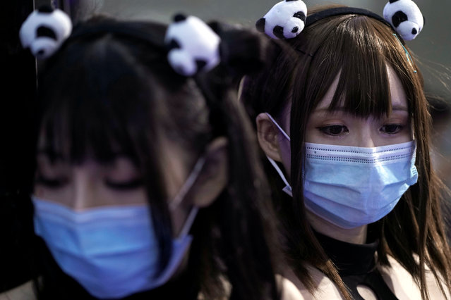 Cosplayers wearing face masks pose for a picture at the China Digital Entertainment Expo and Conference (ChinaJoy) in Shanghai, following the coronavirus disease (COVID-19) outbreak, China on July 31, 2020. (Photo by Aly Song/Reuters)