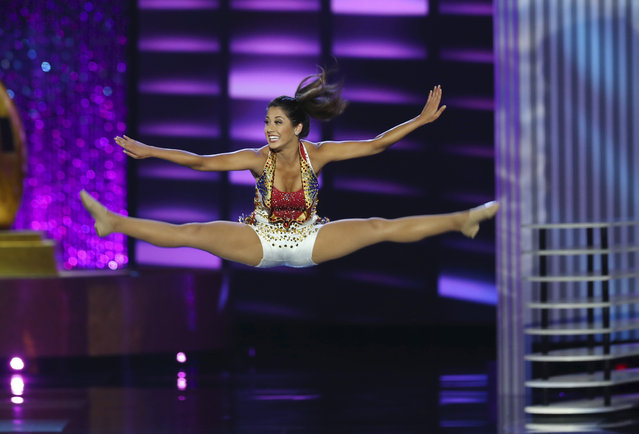 Miss California Jessa Carmack, performs during the Miss America 2017 pageant, Sunday, September 11, 2016, in Atlantic City, N.J. (Photo by Mel Evans/AP Photo)
