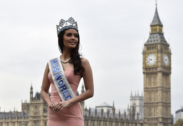 Miss World 2013, Megan Young of the Philippines, poses during a publicity launch near to Big Ben and the Houses of Parliament in central London November 25, 2014. (Photo by Toby Melville/Reuters)
