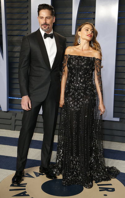 Sofía Vergara and her husband Joe Manganiello attend the 2018 Vanity Fair Oscar Party hosted by Radhika Jones at the Wallis Annenberg Center for the Performing Arts on March 4, 2018 in Beverly Hills, California. (Photo by Danny Moloshok/Reuters)