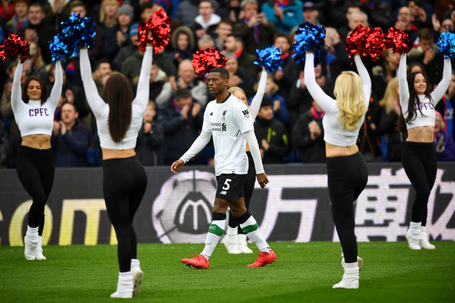 Liverpool's Georginio Wijnaldum walks out before the  English Premier League football match between Crystal Palace and Liverpool at Selhurst Park in south London, England on March 31, 2018. (Photo by Dylan Martinez/Reuters)