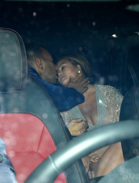 Chrissy Teigen and her husband John Legend attend the GQ Men of the Year Awards at Tate Modern on September 5, 2018 in London, England. (Photo by Tony Clark/Splash News and Pictures)