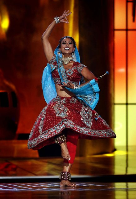 Miss New York Nina Davuluri performs during the pageant. (Photo by Lucas Jackson/Reuters)