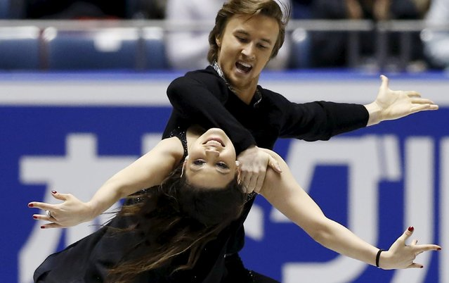 Elena Ilinykh and  Ruslan Zhiganshin of Russia compete during the ice dance free dance program at the ISU World Team Trophy in Figure Skating in Tokyo April 17, 2015. (Photo by Yuya Shino/Reuters)