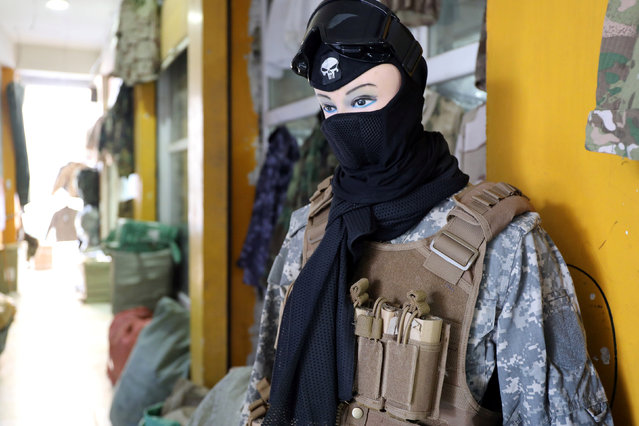 Military items for women are seen in a store in Erbil, Iraq January 24, 2017. (Photo by Marius Bosch/Reuters)