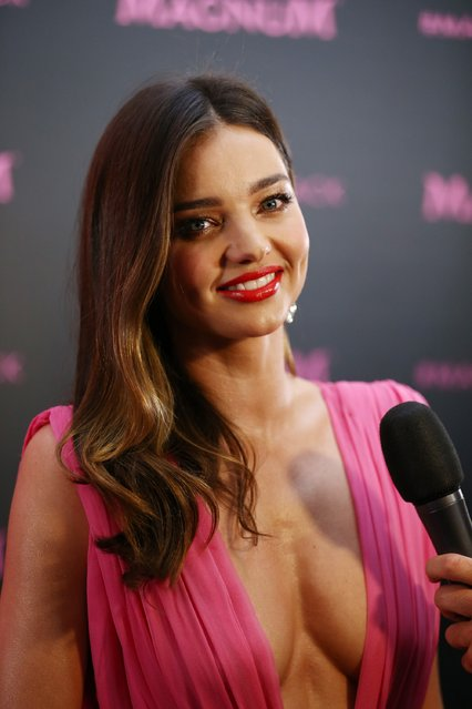 Miranda Kerr attends the Magnum photocall during the 68th annual Cannes Film Festival on May 14, 2015 in Cannes, France. (Photo by Andreas Rentz/Getty Images)