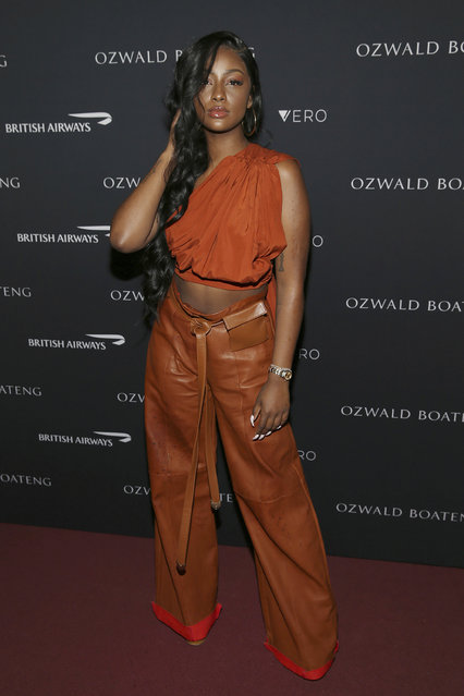 Singer Justine Skye attends the Ozwald Boateng fashion show at the Apollo Theater on Sunday, May 5, 2019, in New York. (Photo by Donald Traill/Invision/AP Photo)