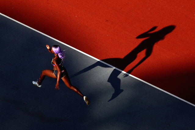 Priscilla Frederick of Antigua and Barbuda competes in the Men's High Jump final during athletics on day 10 of the Gold Coast 2018 Commonwealth Games at Carrara Stadium on April 14, 2018 on the Gold Coast, Australia. (Photo by Michael Steele/Getty Images)
