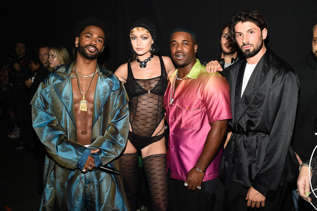 Big Sean (L) and A$AP Ferg (2nd R) pose backstage for Savage X Fenty Show Presented By Amazon Prime Video – Backstage at Barclays Center on September 10, 2019 in Brooklyn, New York. (Photo by Ilya S. Savenok/Getty Images for Savage X Fenty Show Presented by Amazon Prime Video )