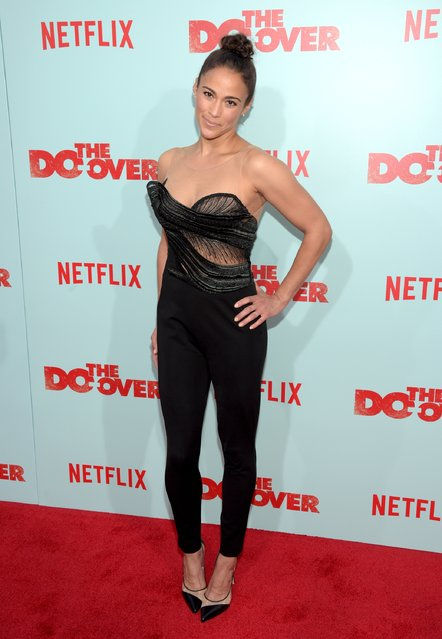 "Actress Paula Patton attends the premiere of Netflix's ""The Do Over"" at Regal LA Live Stadium 14 on May 16, 2016 in Los Angeles, California. (Photo by Jason Kempin/Getty Images)"