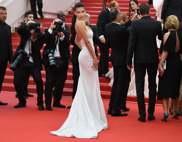 "Adriana Lima attends the ""Loveless (Nelyubov)"" screening during the 70th annual Cannes Film Festival at Palais des Festivals on May 18, 2017 in Cannes, France. (Photo by Pascal Le Segretain/Getty Images)"