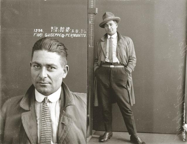 Mug shot of Guiseppe Fiori, alias Permontto, 5 August 1924
