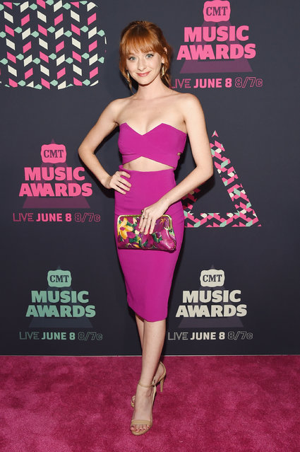 Actress Chelsea Talmadge attends the 2016 CMT Music awards at the Bridgestone Arena on June 8, 2016 in Nashville, Tennessee. (Photo by Rick Diamond/Getty Images  for CMT)