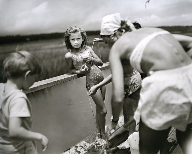 Crabbing at Pawley's, 1989. (Photo by Sally Mann)